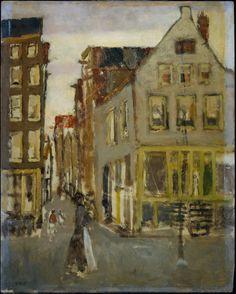 De Lauriergracht bij de Tweede Laurierdwarsstraat  Breitner, George Hendrik    Verv.jaar: 1923