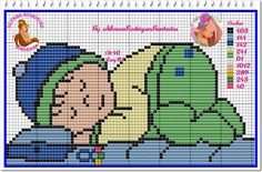 ♥♥ Cantinho da Artes-Silvana Artes♥♥ Baby Cross Stitch Patterns, Cross Stitch Baby, Cross Stitch Charts, Cross Stitch Embroidery, Baby Cocoon, Crochet Motifs, Doll Patterns, Baby Dolls, Diy And Crafts