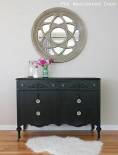 DIY home crafts DIY A black beauty with glass knobs DIY home crafts