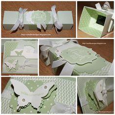 Envelope Punch Board , Box, Knallbonbon,Pistazie, Flüsterweiss,Butterfly , Schmetterling, Stampin UP Ideas