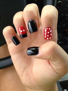 uñas de mini y mickey mouse