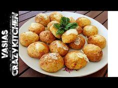 Τυροπιτακια Παραλιας Σε 5 Λεπτα – Τυροπιτακια Ευκολα Συνταγη – Τυροπιτακια Χωρις Φυλλο - YouTube Quick Snacks, Baked Potato, Snack Recipes, Baking, Ethnic Recipes, Youtube, Food, Snack Mix Recipes, Appetizer Recipes
