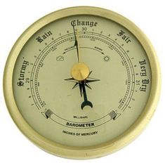high quality ivory barometer with ivory dial. Weather Instruments, Ivory