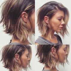 Coupe de cheveux femme beauté Using fingernail gloss is fairly difficult for some women. Edgy Bob Haircuts, Wavy Bob Hairstyles, Cool Haircuts, Pretty Hairstyles, Hairstyle Images, Woman Hairstyles, Popular Hairstyles, Wedding Hairstyles, Wavy Hair