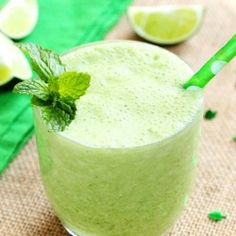 Instead of munching, sip this wonderful minty limeade smoothie