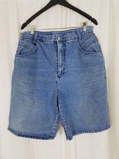 Women/'s Vtg 80/'s,FUNKY Hi Waist,Blue Denim /& Floral Shorts By STEFANO.10