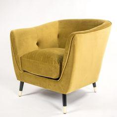Dark Gold Velvet Armchair