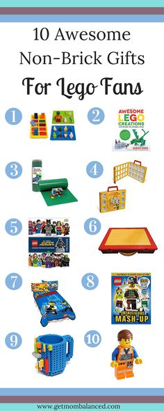 If you need a gift for someone who loves Lego, but who has WAY too many standard bricks, you need to check out this list of gift ideas! From Get Mom Balanced