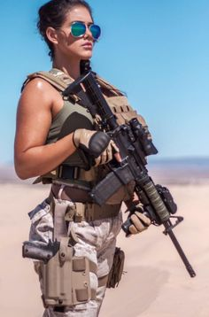 Deadly military women also deserve to fight for their country just like men. Woman have served in the military in greater number than before. Military services all open for both gender. N Girls, Girls In Love, Army Girls, Military Girl, Military Fashion, Military Style, Women Poster, Warrior Girl, Female Soldier