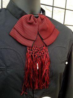 Mexican Charro and Mariachi Red/Black Adult Bow Tie From Mx.Moño Charro/Mariachi #NuestroMexico #CharroandMariachi
