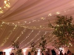 #Fairylight canopy in marquee draping