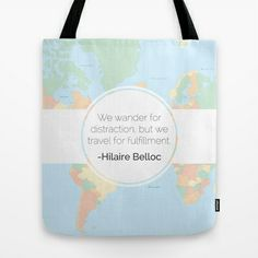 quotes, travel, inspiration - #quotes Wander Tote Bag by Karalyn Ann - $22.00