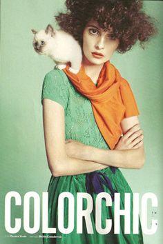 Gwendy trois mois dans le catalogue de Marie Claire Italie du mois d'Avril 2012