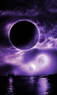 Purple Fantasy Moon wallpaper by Purple Love, All Things Purple, Purple Rain, Shades Of Purple, Purple Stuff, Dark Purple, Purple Colors, Arte Pink Floyd, Moon Pictures