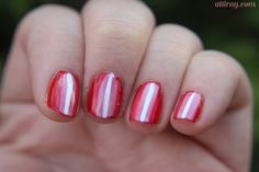 red striped nails