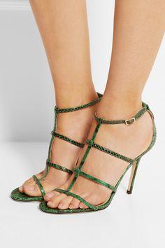 Jimmy Choo | Dory elaphe sandals | NET-A-PORTER.COM