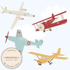 Professional Airplane Clipart & Airlplane Vectors - Airplane Clip Art, Airplanes Clip Art, Vintage Airplanes, Biplane Clipart by AmandaIlkov on Etsy https://www.etsy.com/listing/215142790/professional-airplane-clipart-airlplane