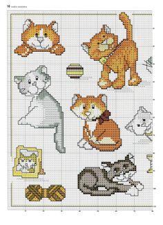 Cartoon type cat cross stitch designs 2 of 2 embroidery - ca Just Cross Stitch, Cross Stitch Needles, Cross Stitch Animals, Cross Stitch Charts, Funny Cross Stitch Patterns, Cross Stitch Designs, Cross Stitching, Cross Stitch Embroidery, Minnie Baby