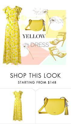 """Yellow Dress"" by rasa-j ❤ liked on Polyvore featuring Rochas, Lauren Ralph Lauren, Steve Madden, yellowdress and womensFashion"