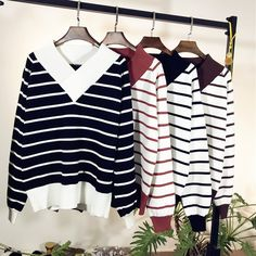 Female Long Striped Cashmere Sweater Women V-neck Knitted Christmas Sweaters And Pullovers Fashion Tops Warm Jumpers. Yesterday's price: US $32.77 (27.18 EUR). Today's price: US $19.99 (16.58 EUR). Discount: 39%.