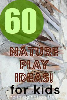 60 Ways to Play and craft with nature for kids