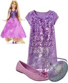 Rapunzel Inspired Kid's Outfit