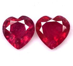 Your place to buy and sell all things handmade Natural Emerald, Natural Ruby, Semi Precious Gemstones, Loose Gemstones, Red Sapphire, Ruby Rose, Just Amazing, Shades Of Green, Heart Shapes