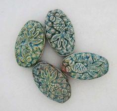 Raku Koi Beads