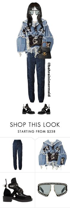 """""""illygirl"""" by bahrainimermaid on Polyvore featuring Versus, BLK DNM, Balenciaga and Gucci"""