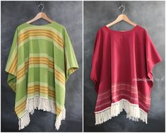 Upcycled Fiesta Ponchos: great for Cinco de Mayo | Redesigned by M