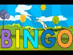 Nursery Rhymes and Lullabies (playlist) BINGO was his name (the dog) Nursery Rhyme Theme, Classic Nursery Rhymes, Kids Nursery Rhymes, Bingo, Fun Songs For Kids, Nursery Ryhmes, Name Songs, Name Activities, School Videos