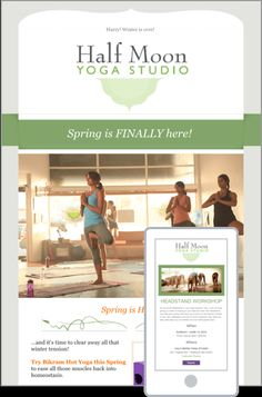 The best emails start with the best templates. Check out these examples of our easily customizable email templates: Yoga studio email newsletter template