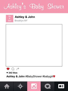 Customize Girl Shower Frame Photo Booth Prop - sizes 36x24, 48x36; Pesonalized Party Pink Social Banner Home Decorations, Handmade Party Supply Photo Booth Frame