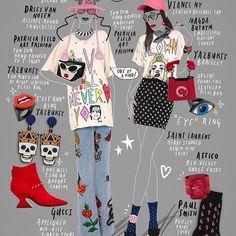 Accessories CRAZE!! ✨ #Collage #FashionIllustration #Gucci #DriesVanNoten #PatriciaFieldArtFashion #Yazbukey #Dorateymur #VianelNewYork #MagdaButrym #SaintLaurent #TheAttico #PaulSmith