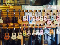 What a cute ukuleles! It sells at Asiatique in Bangkok. You may have them for 1000-1200 baht/piece