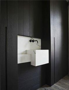vasque marbre blanc suspendue