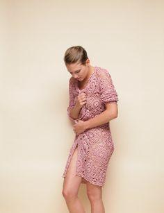 Crochet pink Cardigan