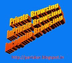 """How to Activate private Browsing in Various Browsers - SAMPATKUMARI'S Blog """"PARISHKAR"""""""
