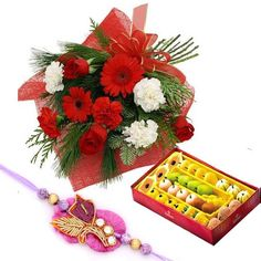 Raksha Bandhan Celebrations cannot be complete without sweets. So send this beautiful Rakhi floral combo gift hamper to Hyderabad at your brother's door step through www.hyderabadonlineflowers.com