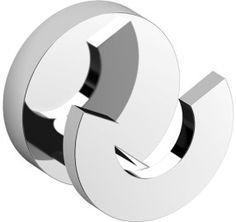 Clou Flat dubbele kledinghaak chroom D3.6cm - CL/09.02066 - Sanitairwinkel.be Flat, Design, Products, Spikes, Fashion Styles, Bass, Gadget, Flat Shoes