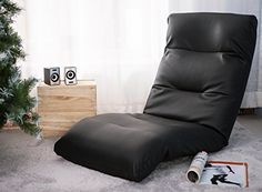 Merax PU Leather Foldable Floor Sofa Chair Lazy Sofa Chair Black *** Find out more about the great product at the image link.-It is an affiliate link to Amazon. #Sofa