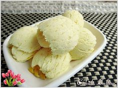 Süt reçelli limonlu dondurma cahide sultan World Recipes, Ice Cream Recipes, Sorbet, Food And Drink, Pudding, Drinks, Eat, Cooking, Ethnic Recipes