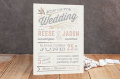 Rustic Charm Foil-Pressed Wedding Invitations by Hooray Creative at minted.com