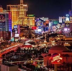 Vegas on a Saturday night!