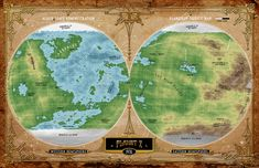 From the AEGIS Interplanetary Sourcebook for the Airship Daedalus pulp adventure RPG Adventure Rpg, Planets, Ocean, Map, Mountains, Location Map, The Ocean, Maps, Sea