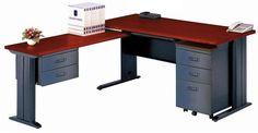 Escritorio secretarial Steel Office con medidas de 1.60 x 0.70 mts mas retorno con gavetas mas gavetero movil con respectivas llaves para seguridad de usuario $415.00