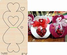 Kids Crafts, Easter Crafts, Diy And Crafts, Diy Gift Box, Diy Box, Diy Gifts, Valentines Bricolage, Valentine Day Crafts, Wooden Diy