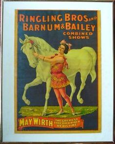 Bareback rider May Wirth