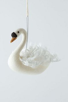swan ornament// I would just have these around my place all year long