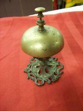 Antique Vintage Brass Hotel Front Desk Service Bell School Lever Bell